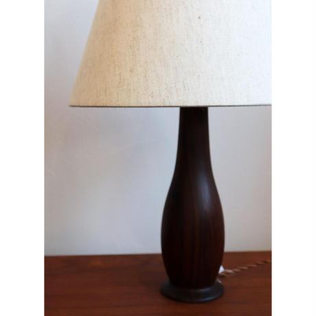vintage rosewood table lamp