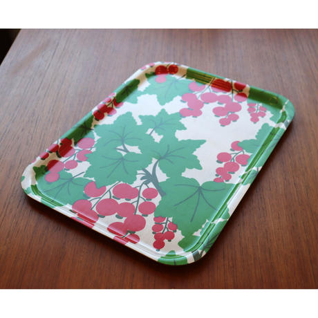 Vintage Backman tray redberry