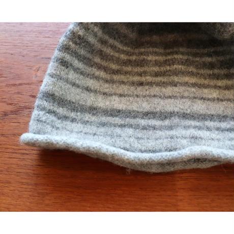 handknitted hat from Sweden grey border
