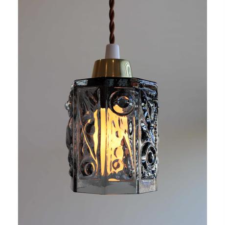 Swedish grey glass lamp