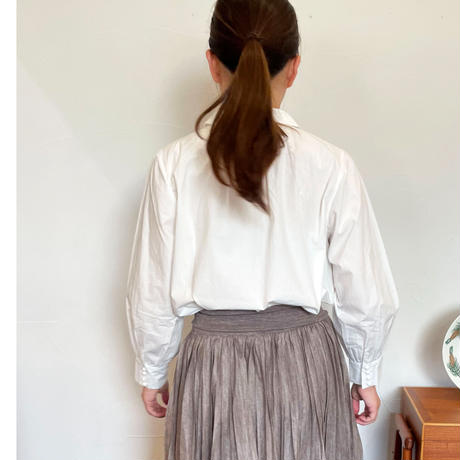 pot and tea basic blouse with collars and buttons M
