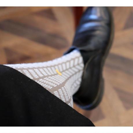 atelier naruse cotton 'dot x herring-bone' tights