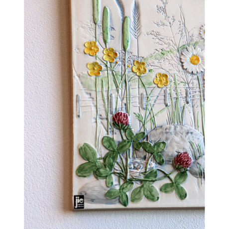 JIE Gantofta wall plaque 'meadow flowers'