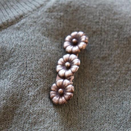 vintage silver brooch 3 flowers
