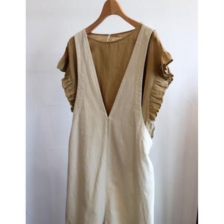 miho umezawa sun dry linen frill sleeve blouse