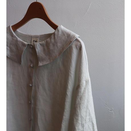pot and tea big collar blouse