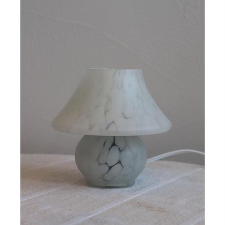 vintage glass mushroom table lamp