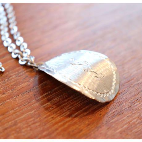 Vintage Saami pewter  Necklace  curved