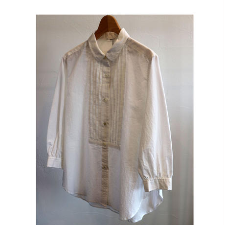 HAU pin tuck shirts 'cotton chambray'