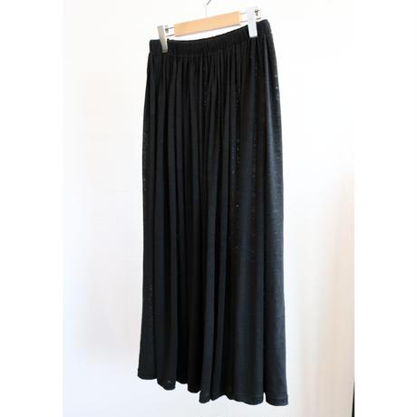 miho umezawa linen jersey gather skirt