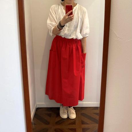atelier naruse cotton patch pocket skirt
