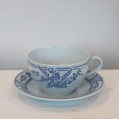 Rorstrand Fagel bla coffee cup &saucer