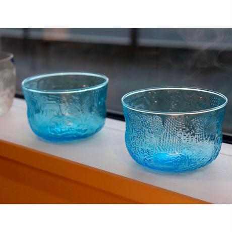 Nuutajarvi Fauna dessert  bowl  blue