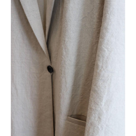 miho umezawa shetland wool linen gabardine light chester coat