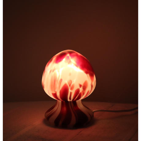 Pukeberg glass mushroom table lamp