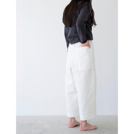 miho umezawa voile weather cloth cocoon wide pants short