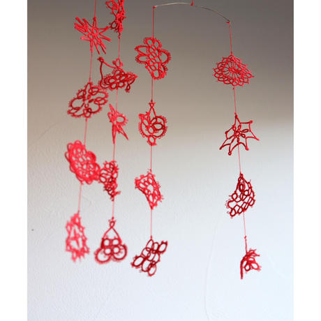 vintage tatting lace mobile