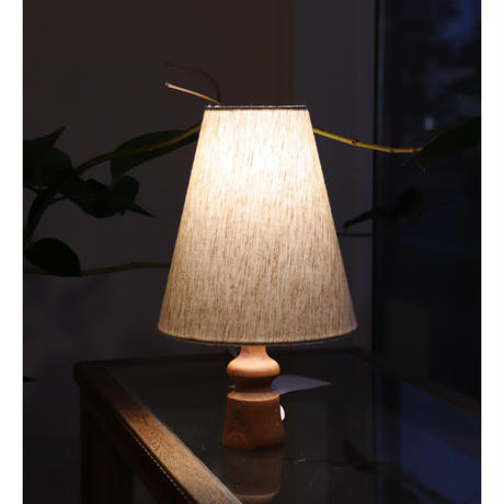 vintage small wooden table lamp