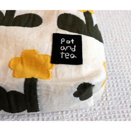 pot and tea お花ジャガードティッシュケース