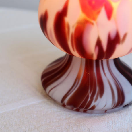 Pukeberg glass mushroom table lamp
