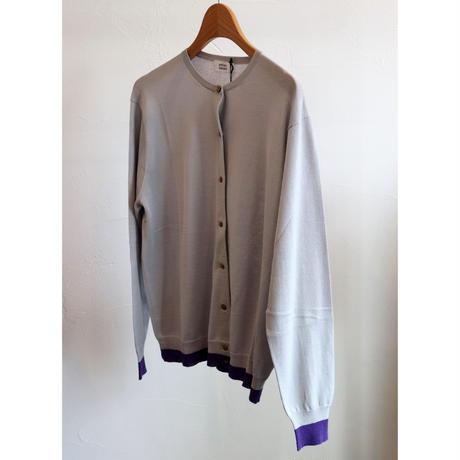 atelier naruse silk linen crew neck cardigan