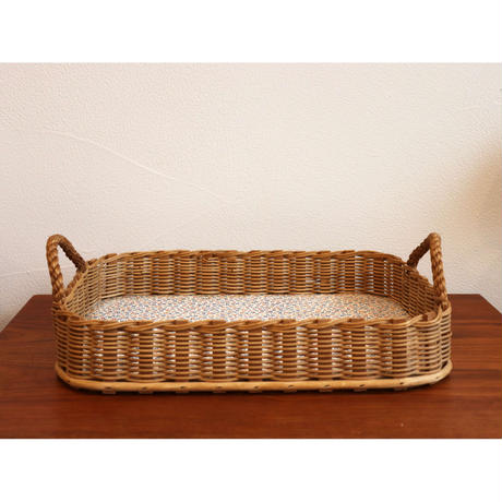 wood and plywood tray with handles