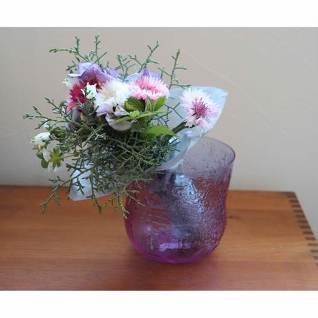 Nuutajarvi Fauna purple bowl