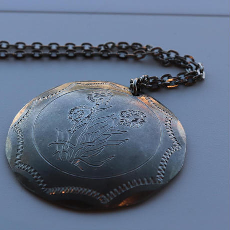 Vintage Saami pewter  Necklace  round