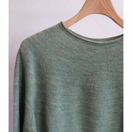 miho umezawa wool whole garment light sweater