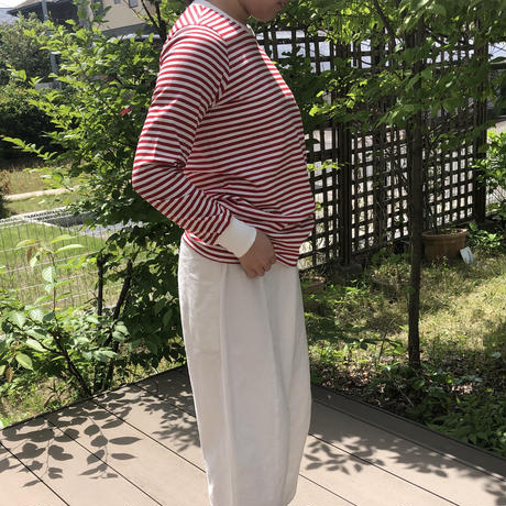 atelier naruse cotton border cutsew red