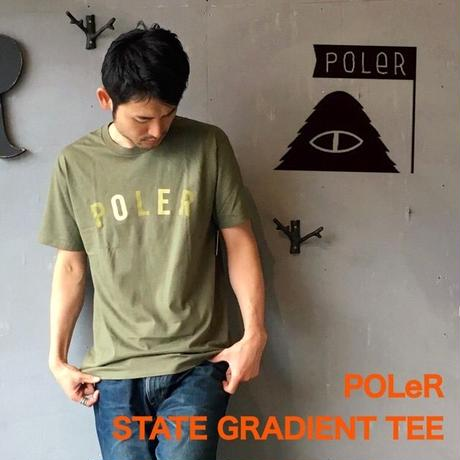 "POLeR ""STATE GRADIENT TEE"" Olive"