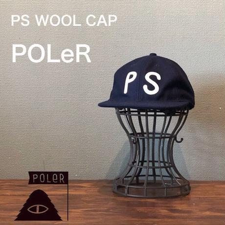 """POLeR """"PS WOOL CAP"""" Navy"""