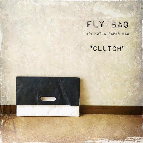 "FLY BAG ""CLUTCH"" Navy x White"