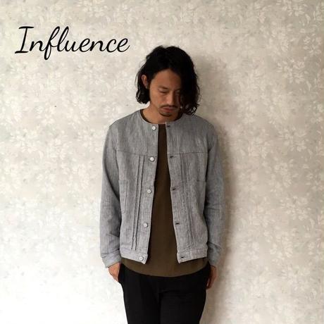 """Influence """"ノーカラーブルゾン"""" Gray"""