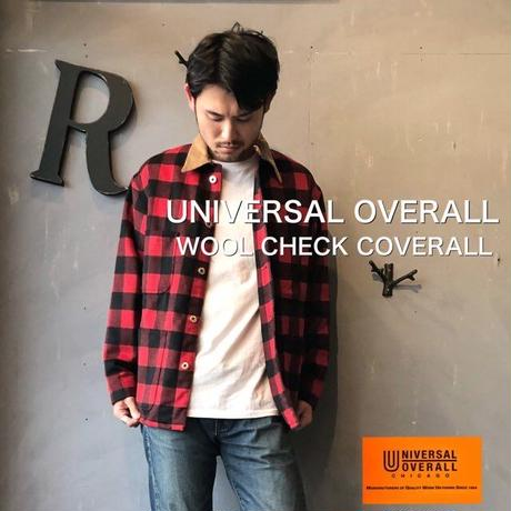 """UNIVERSAL OVERALL """"WOOL CHECK COVERALL"""" Red"""