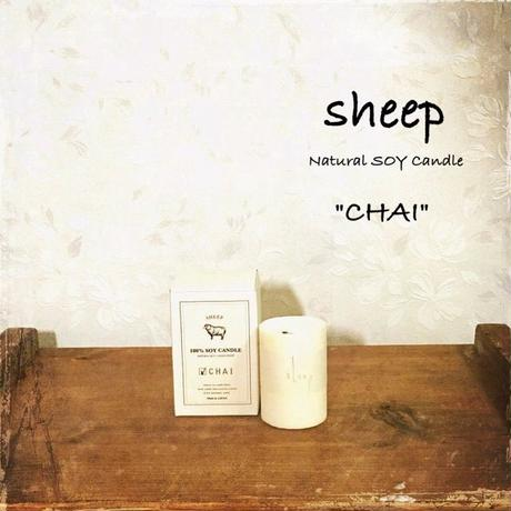 sheep SOY CANDLE chai SS