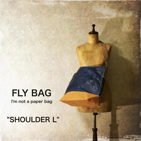 """FLY BAG """"SHOULDER L"""" Navy"""