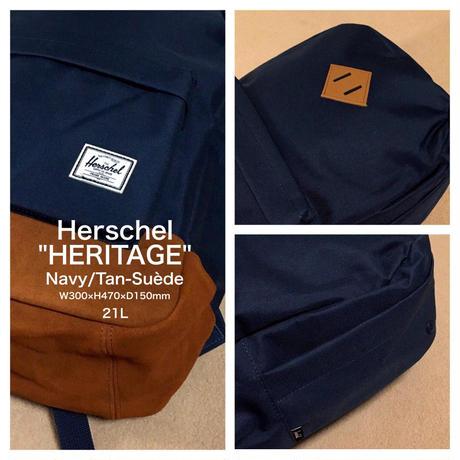 """Herschel """"HERITAGE"""" Navy/Tan-suède"""