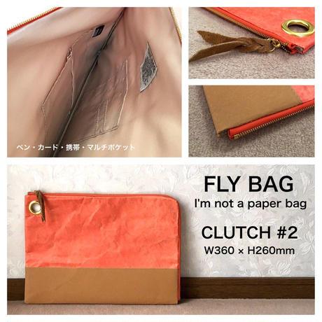 "FLY BAG ""CLUTCH #2"" Orange"