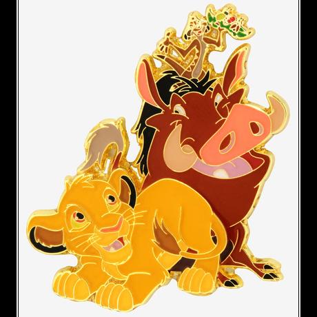 【USA直輸入】DISNEY ライオンキング シンバ ティモン プンバ 仲良し3人組 フレンズ エナメル ピン ピンズ ピンバッジ Lion King ディズニー