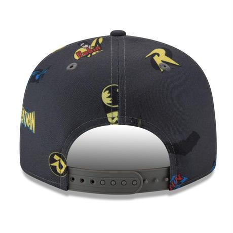 【USA直輸入】DCコミックス バットマン ロビン パワーカップル ロゴ 9Fifty キャップ  スナップバック ニューエラ NEWERA 帽子 batman  robin
