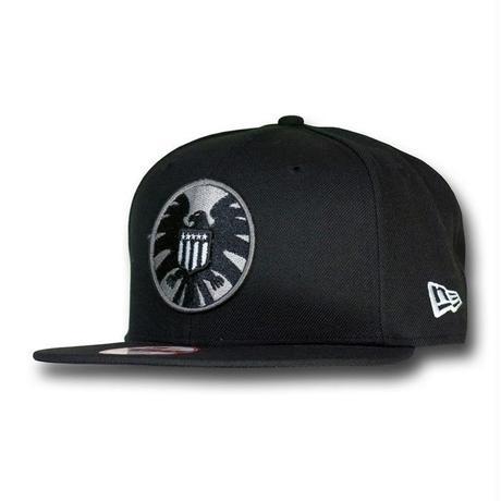 【USA直輸入】MARVEL S.H.I.E.L.D.  シールド シンボル ブラック ロゴ 9Fifty キャップ  ニューエラ NEWERA ベースボールキャップ 帽子 マーベル SHIELD