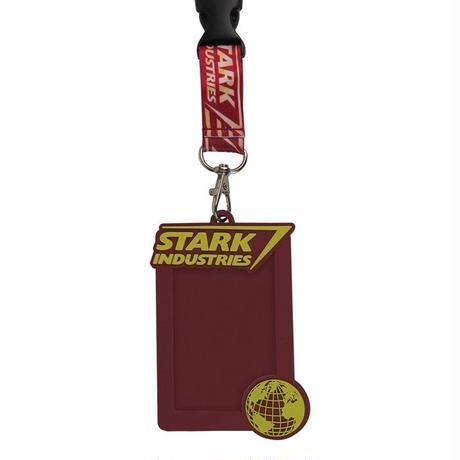 【USA直輸入】MARVEL アイアンマン スタークインダストリーズ ランヤード ネックストラップ  カードケース IDホルダー Ironman Stark Industries