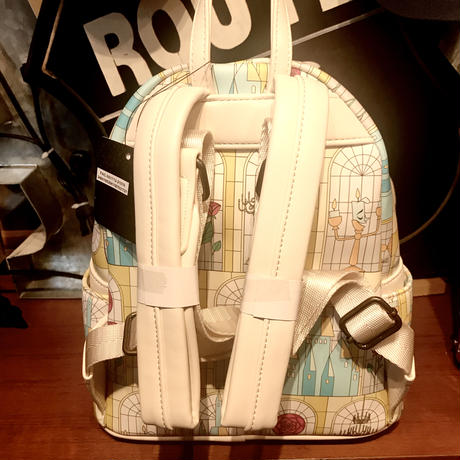 【USA直輸入】DISNEY 美女と野獣 ステンドグラス 窓 バックパック リュック ディズニー ラウンジフライ loungefly  ベル プリンセス ビースト