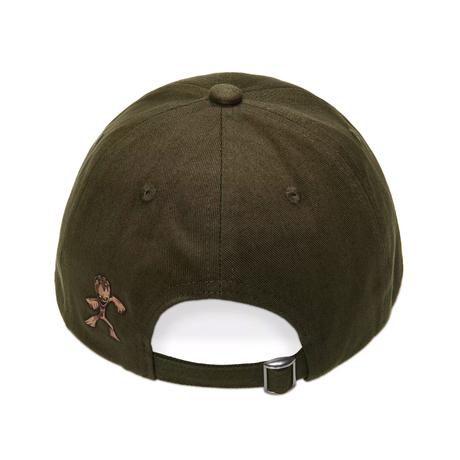 【USA直輸入】MARVEL ガーディアンズオブギャラクシー グルート I AM GROOT ベースボール キャップ 深緑色 アジャスター 帽子 マーベル ガーディアンズ