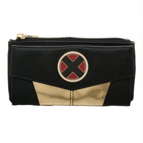 【USA直輸入】MARVEL Xメン ロゴ ゴールド&ブラック フラップ ウォレット 財布 X-MEN エックスメン
