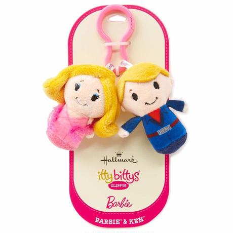 【USA直輸入】CLIPPYS  バービー ケン ぬいぐるみ クリップ ittybittys キーホルダー 約8cm hallmark barbie