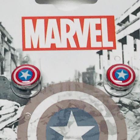 【USA直輸入】MARVEL キャプテンアメリカ シールド ロゴ ピアス ER-CPTA アクセサリー マーベル アベンジャーズ