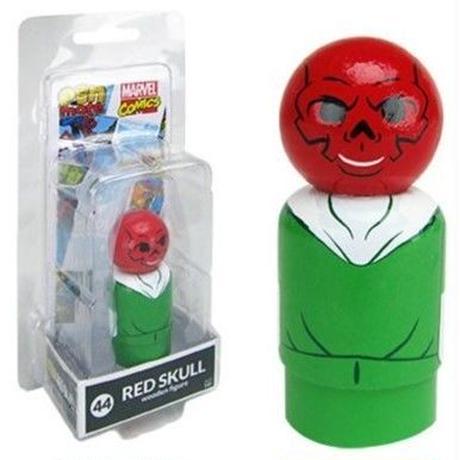 【USA直輸入】MARVEL Pin Mate ピン メイト 木製 フィギュア マーベル コミックス レッドスカル Red Skull 44 2インチ キャプテンアメリカ ヒドラ