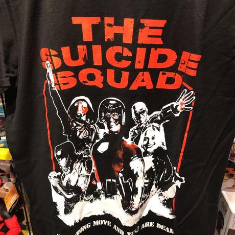 【USA直輸入】DCコミックス ザ スーサイドスクワッド Tシャツ ポスター バックプリント   2021 極悪党 集結 DC ジェームズ ガン